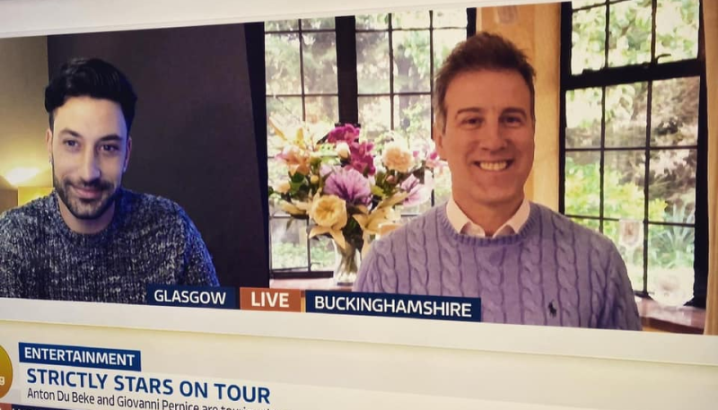Excitement builds for Anton Du Beke and Giovanni Pernice's tour after their appearance on Good Morning Britain